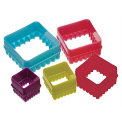Set of 5 Square Cookie Cutters