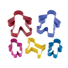 Stainless Steel Gingerbread Family Cookie Cutter Set