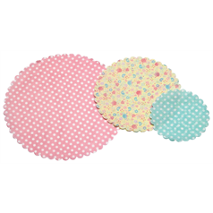 Pack of 30 Patterned Paper Doilies