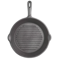round grill plate ridged base
