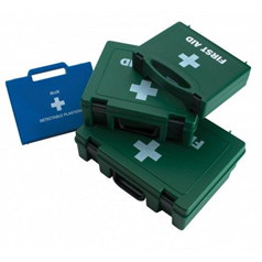 First Aid Kits blue 100 assorted plasters