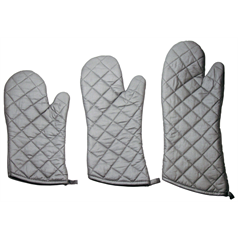 Grey Silicone Oven Mitt 15""