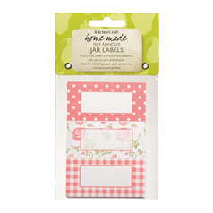 Pack of Thirty Self-Adhesive Jam Jar Lables - Roses
