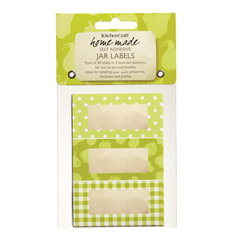 Pack of Thirty Self-Adhesive Jam Jar Labels-Garden Green