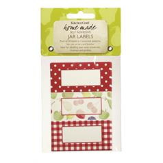 Pack of Thirty Self-Adhesive Jam Jar Labels-Orchard