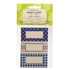 Pack of Thirty Self-Adhesive Jam Jar Labels-Stiched Striped