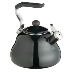 le'express 3.5 pt whistling kettle, black