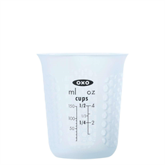 squeeze & pour silicone measuring cup, mini, 150ml