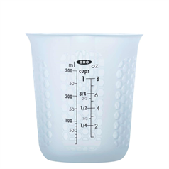 squeeze & pour silicone measuring cup, 250ml