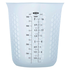 squeeze & pour silicone measuring cup, 500ml