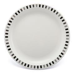 Polycarbonate Plate With Black And Grey Stripes, 23cm