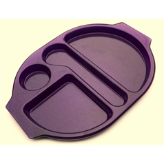 Polycarbonate Large Meal Tray Purple Sparkle