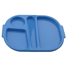 Polycarbonate Summer Blue Small Meal Tray