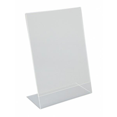 A5 Perspex Menu Holder Angled