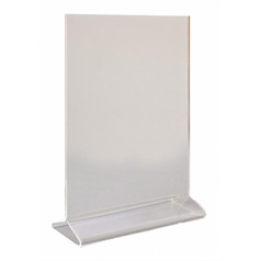 A5 Perspex Menu Holder Vertical