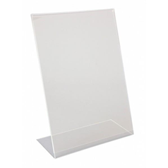 A4 Perspex Menu Holder Angled