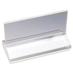 T-Clip Acrylic Menu Holder, Clear, 10cm