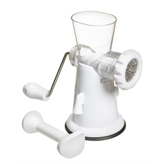White Plastic Mincer With Suction Clamp