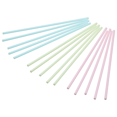 plastic pastel coloured cake pop sticks