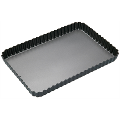 Non-Stick Fluted Rectangular Flan/Quiche Tin