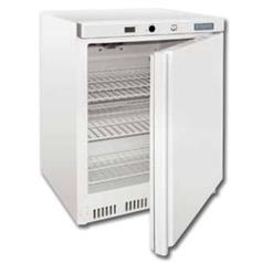 polar refrigeration undercounter fridge, white, 140 litres