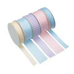 Pack of 5 Assorted Pastel Ribbons