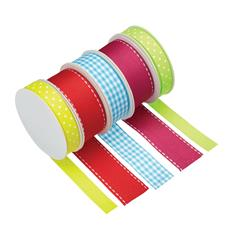 Pack of 5 Assorted Bright Ribbons