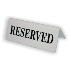 Reserved Signs Black on White