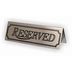 Reserved Signs Stainless Steel