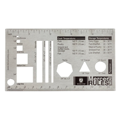 "mini mercer rules culinary ruler 5.25"" x 3"""