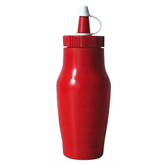 Sauce Bottles w/Cap 200mm/7oz Red