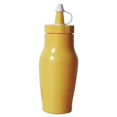 Sauce Bottle w/Cap 200ml/7oz Yellow