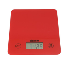 red digital scales