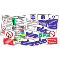 Food Preparation Area Sign Pack