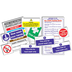 Junior Health & Saftey Sign Pack