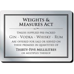 Weights & Measures Act 35ml Silver