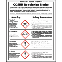 COSHH Regulations Notice