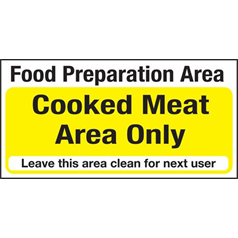 Cooked Meat Only Area