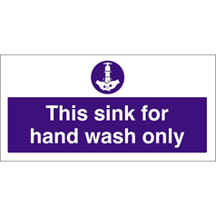 Hand Wash Only Sink