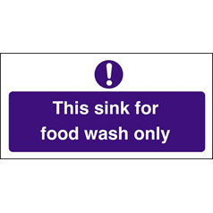 Food Wash Only Sink
