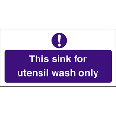 Utensil Wash Only Sink