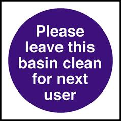 Leave Basin Clean