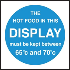 Hot Food Display Temperature.
