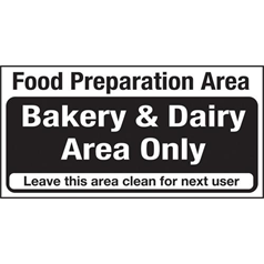 Bakery & Dairy Area Only