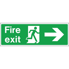 Fire Exit Arrow Right - Self Adhesive