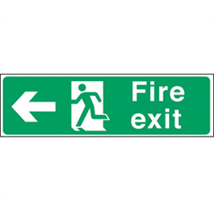 Fire Exit Arrow Left - Self Adhesive