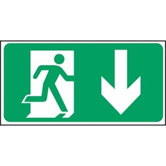 Exit Man Arrow Down - Self Adhesive