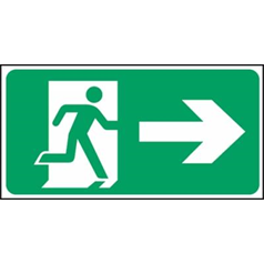 Exit Man Arrow Right - Self Adhesive