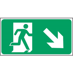 Exit Arrow Right - Self Adhesive