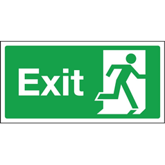 Exit Sign - Self Adhesive